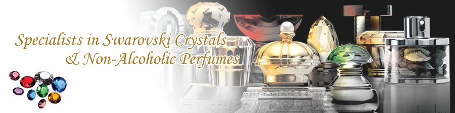 Specialists in Swarovski Crystals and Non-Alcoholic Perfumes